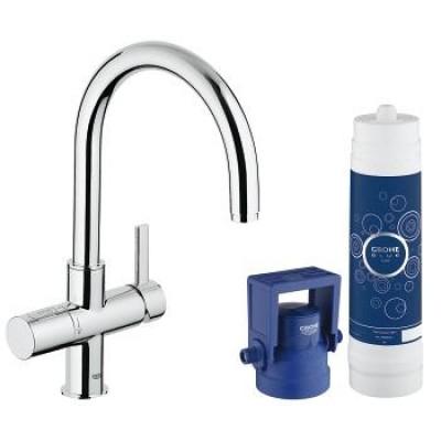 Смеситель для кухни Grohe Blue 33249001, с функцией очистки водопроводной воды, фото 1