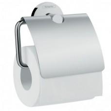 Держатель туалетной бумаги, с крышкой Hansgrohe Logis 41723000, хром