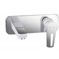 Смеситель для раковины Imprese Breclav VR-05245W, встроенный, белый/хром