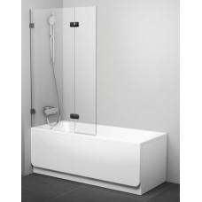 Шторка для ванны двухэлементная Ravak BVS2