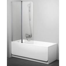 Шторка для ванны двухэлементная Ravak CVS2, белый