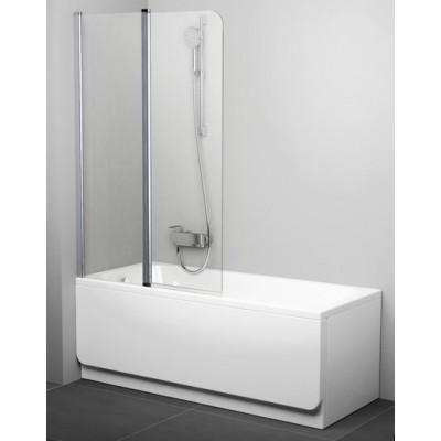 Шторка для ванны двухэлементная Ravak CVS2, полир. алюминий, фото 1