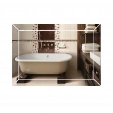 Зеркало Qtap Aries 500х700 с LED-подсветкой, Reverse QT037816015070W