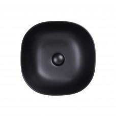Раковина Qtap Kolibri 410x410x150 Matt black с донным клапаном QT10112144MBMB