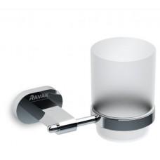 Держатель со стаканом д/зубных щеток RAVAK Chrome (стекло) CR 210.00