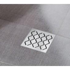 Душевой пластмассовый трап Ravak SN501 105x105/50, сетка - нержавеющая сталь