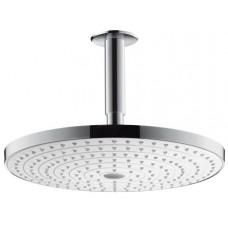 Верхний душ Hansgrohe 27337400 Raindance Select S 300 2jet c потолочным подсоединением 100мм, бел/хром