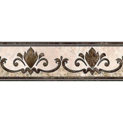 Фриз для пола Интеркерама EMPERADOR 13,7х43, коричневый, фото 1