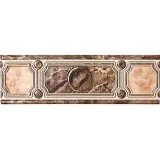 Фриз для стен Интеркерама Пиетра 7,5х23,коричневый