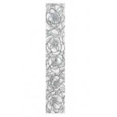 Фриз для стен вертикальный Интеркерама Брина 7х40,серый